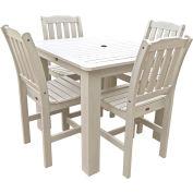 Highwood® Synthetic Wood 5-pc Dining Set, 42 X 42, Whitewash