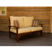 highwood® Pocono Deep Seating Patio Love Seat - Weathered Acorn/Bamboo (Sold in Pk. Qty 3) - Pkg Qty 3