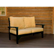 highwood® Pocono Deep Seating Patio Love Seat - Charleston Green/Bamboo (Sold in Pk. Qty 3) - Pkg Qty 3