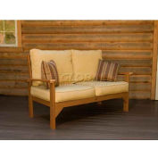 highwood® Pocono Deep Seating Patio Love Seat - Toffee/Bamboo (Sold in Pk. Qty 3) - Pkg Qty 3