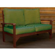 highwood® Pocono Deep Seating Patio Love Seat - Weathered Acorn/Palm (Sold in Pk. Qty 3) - Pkg Qty 3