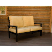 highwood® Pocono Deep Seating Patio Love Seat - Black/Palm (Sold in Pk. Qty 3) - Pkg Qty 3