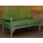 highwood® Pocono Deep Seating Patio Love Seat - Coastal Teak/Palm (Sold in Pk. Qty 3) - Pkg Qty 3