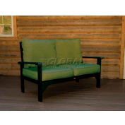 highwood® Pocono Deep Seating Patio Love Seat - Charleston Green/Palm (Sold in Pk. Qty 3) - Pkg Qty 3