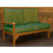 highwood® Pocono Deep Seating Patio Love Seat - Toffee/Palm (Sold in Pk. Qty 3) - Pkg Qty 3