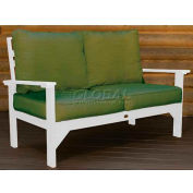 highwood® Pocono Deep Seating Patio Love Seat - White/Palm (Sold in Pk. Qty 3) - Pkg Qty 3