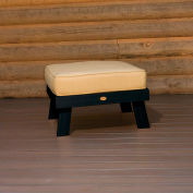 highwood® Pocono Deep Seating Patio Ottoman - Black/Bamboo (Sold in Pk. Qty 2) - Pkg Qty 2