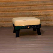 highwood® Pocono Deep Seating Patio Ottoman - Charleston Green/Bamboo (Sold in Pk. Qty 2) - Pkg Qty 2