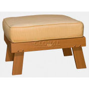 highwood® Pocono Deep Seating Patio Ottoman - Toffee/Bamboo (Sold in Pk. Qty 2) - Pkg Qty 2