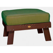 highwood® Pocono Deep Seating Patio Ottoman - Weathered Acorn/Palm (Sold in Pk. Qty 2) - Pkg Qty 2