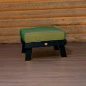 highwood® Pocono Deep Seating Patio Ottoman - Black/Palm (Sold in Pk. Qty 2) - Pkg Qty 2
