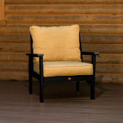highwood® Pocono Deep Seating Patio Armchair - Black/Bamboo (Sold in Pk. Qty 2) - Pkg Qty 2