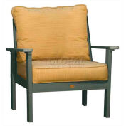 highwood® Pocono Deep Seating Patio Armchair - Coastal Teak/Bamboo (Sold in Pk. Qty 2) - Pkg Qty 2
