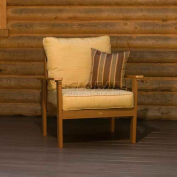 highwood® Pocono Deep Seating Patio Armchair - Toffee/Bamboo (Sold in Pk. Qty 2) - Pkg Qty 2