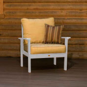 highwood® Pocono Deep Seating Patio Armchair - White/Bamboo (Sold in Pk. Qty 2) - Pkg Qty 2