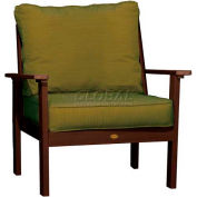 highwood® Pocono Deep Seating Patio Armchair - Weathered Acorn/Palm (Sold in Pk. Qty 2) - Pkg Qty 2