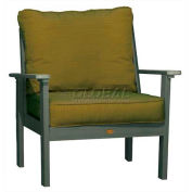 highwood® Pocono Deep Seating Patio Armchair - Coastal Teak/Palm (Sold in Pk. Qty 2) - Pkg Qty 2