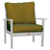 highwood® Pocono Deep Seating Patio Armchair - White/Palm (Sold in Pk. Qty 2) - Pkg Qty 2