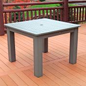 Highwood® Synthetic Wood Dining Table, 42 X 42, Coastal Teak