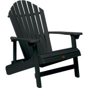 highwood® Hamilton Folding Adirondack Chair, King Size - Black