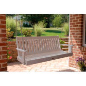 highwood® Lehigh 5' Wide Outdoor Porch Swing - White