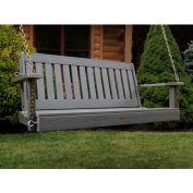 highwood® 4' Lehigh Outdoor Porch Swing, Eco Friendly Synthetic Wood In Coastal Teak