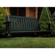 highwood® 4' Lehigh Outdoor Porch Swing, Eco Friendly Synthetic Wood In Charleston Green