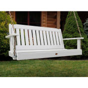 highwood® 4' Lehigh Outdoor Porch Swing, Eco Friendly Synthetic Wood In White