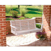 highwood® Weatherly 5' Wide Outdoor Porch Swing - White