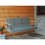 highwood® 4' Weatherly Outdoor Porch Swing, Eco Friendly Synthetic Wood In Coastal Teak