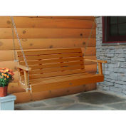 highwood® 4' Weatherly Outdoor Porch Swing, Eco Friendly Synthetic Wood In Toffee