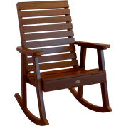 highwood® Weatherly Outdoor Rocking Chair, Eco Friendly Synthetic Wood In Weathered Acorn Color