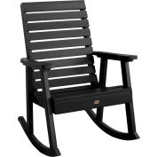 highwood® Weatherly Outdoor Rocking Chair, Eco Friendly Synthetic Wood In Black