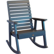 highwood® Weatherly Outdoor Rocking Chair, Eco Friendly Synthetic Wood In Coastal Teak