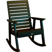 highwood® Weatherly Outdoor Rocking Chair, Eco Friendly Synthetic Wood In Charleston Green