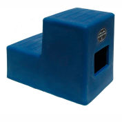 "High Country Plastics 2 Step Mounting Step, Blue 19""H - MS-19B"