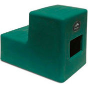 "High Country Plastics 2 Step Mounting Step, Green 19""H - MS-19FG"