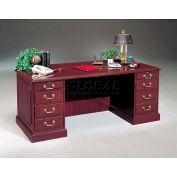 HPFI Double Pedestal Desk W/High-Gloss High-Pressure Laminate Tops, 72X36