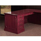 HPFI Left Pedestal Desk W/High-Gloss High-Pressure Laminate Tops, 66X30
