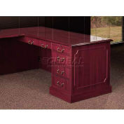 HPFI Right Pedestal Desk W/High-Gloss High-Pressure Laminate Tops, 66X30