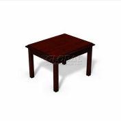 HPFI Bedford Traditional End Table W/High-Gloss High Pressure Laminate Top, 22X27X18
