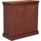 HPFI Traditional Bookcase W/Two Doors, 36X16X36