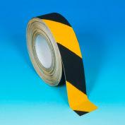 "Heskins Hazard Safety Grip™ Anti Slip Tape, Black/Yellow, 2"" x 60', 60 Grit"