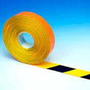"Heskins PermaStripe® Heavy Duty Floor Marking Tape, Black/Yellow, 2"" x 98'"