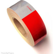 """Heskins DOT C2 Approved Conspicuity Reflective Tape, 6"""" Red/6"""" White, 2"""" x 150', 1 Roll"""