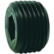 "3/8"" NPTF Socket Head Pipe Plug - 7/8"" Taper - Flush Seal - Steel - Pkg of 100 - Holo-Krome 12008"