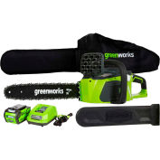 """GreenWorks® 20312 G-MAX 16"""" Cordless Digipro Chainsaw, 40V, 4aH w/ Li-Ion Battery & Charger"""