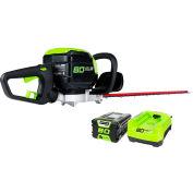 "GreenWorks® 22372 GHT80321 80V Pro Series 26"" Hedge Trimmer Kit W/ 2.0Ah Battery & Charger"