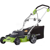 """GreenWorks™ 20"""" 12 Amp Corded 3-in-1 Mower, W/ 7 Cutting Heights"""