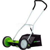 "GreenWorks™ 16"" Manual Push Reel Mower, W/ 4 Cutting Heights"